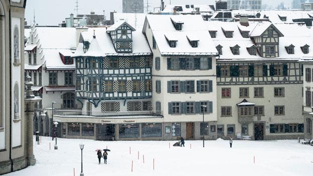Schneerekord in St. Gallen