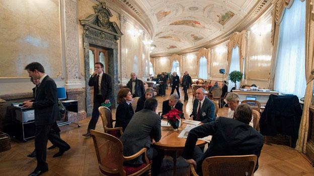 Viel Arbeit für Schweizer Parlamentarier