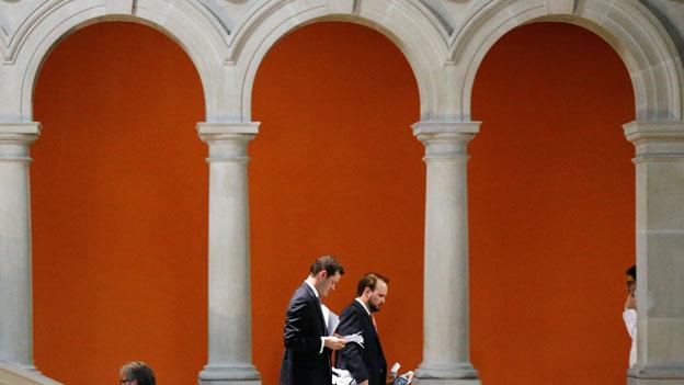 Munteres Schaulaufen im Bundeshaus