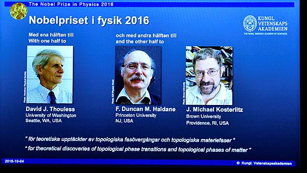 Physik-Nobelpreis für Forschung zum Zustand von Materie