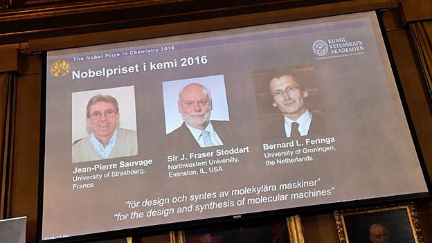 Chemie-Nobelpreis für Entwicklung molekularer Maschinen