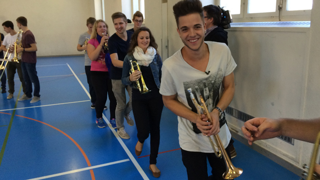 Luca Hänni probt mit den BML Talents