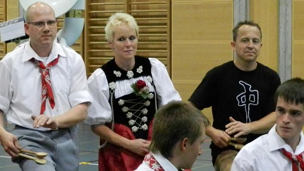 Fabien Rohrer probt mit der Musikgesellschaft Matten
