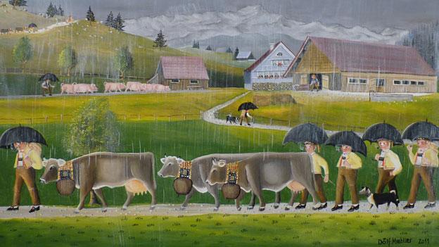 Zu Besuch bei Bauernmaler Dölf Mettler
