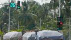 Ampel mit Sekundenanzeige in Malaysia.