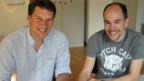 Die beiden Forscher Peter Stein (l.) und Etienne Schwyter