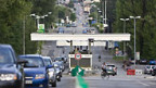 Grenzübergang bei Genf Meyrin.