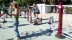 Outdoor-Fitnessgeräte in Cambados, Spanien.
