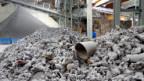 Metallrückgewinnung in der KVA Linthgebiet.