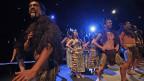 Eröffnungsfeier der Frankfurter Buchmesse 2012. Haka, der traditionelle Tanz der Maori.