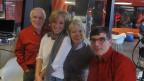 Zwischen den Proben bei Marietta Tomaschett im Studio: WAM, Birgit Steinegger und Flurin Caviezel.