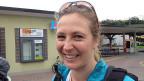 Christine Jutz von SF Meteo begleitet heute die Wandergruppe von Huttwil nach Willisau.