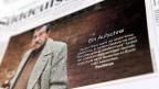 Umstrittenes Gedicht: Günter Grass auf der Front der «Süddeutschen Zeitung» am 4. April 2012.