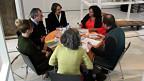 Der runde Tisch, an dem Thesen diskutiert werden.