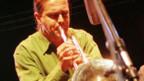 Balthasar Streiff bei einem «Stimmhorn»-Konzert, 1998.