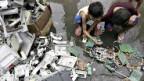 Elektroschrottverwertung in Entwicklungsländern.