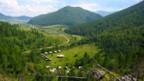 Ort des Fundes: die Grabungsstätte in den Altai Bergen, Südsibirien.