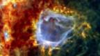Sternengeburt in der Wolke RCW 120, 4300 Lichtjahre entfernt.