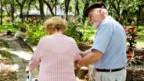 Knochenschwund tritt oft bei älteren Frauen auf.