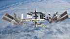 Die ISS in rund 350 Kilometern Höhe über der Erde.