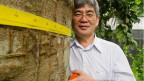 Waldforscher Niro Higuchi vermisst Bäume, um ihren Kohlenstoffgehalt zu bestimmen.