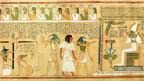 Ausschnitt aus einem ägyptischen Totenbuch.
