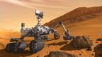Arbeiten auf dem Mars: Visualisierung des «Curiosity»-Gefährts.