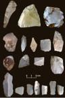 Werkzeuge der ältesten bisher bekannten Menschen in Nordamerika.