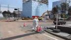 Aufräumarbeiten beim havarierten Atomkraftwerk Fukushima Daiichi.