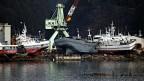 Gestrandete Schiffe nach dem Tsunami.