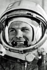 Juri Gagarin kurz vor dem Start seines Raumschiffs Wostok am 12. April 1961.