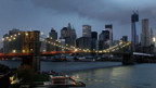 Hurrican Sandy fegt über New York.