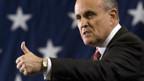 Rudy Giuliani bedankt sich bei seinen Wählern.