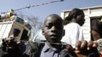 Kenianer auf der Flucht.