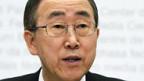 UN-Generalsekretär Ban Ki Moon in Bern.