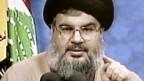 Hisbollah-Chef Hassan Nasrallah lässt die Muskeln spielen.