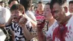 Die Polizei ging mit Gummigeschossen und Tränengas gegen die Demonstranten vor.