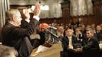 Samuel Schmid an der ersten Parteiversammlung der BDP des Kantons Bern.