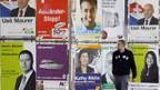 Wahlkampfplakate im Herbst 2007.