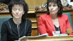 Bundesrätinnen Widmer-Schlumpf (l.) und Leuthard beschäftigen sich mit dem Freizügigkeitsabkommen.