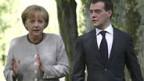 Merkel und Medwedew.