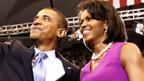 Barack Obama mit seiner Frau Michelle.