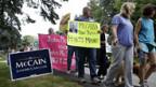 Proteste gegen John McCain in Kennebunkport, Maine.