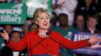 Hillary Clinton geniesst den Triumph.