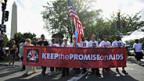 Marsch zur Welt-Aids-Konferenz in Washington