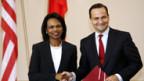 Condoleezza Rice und ihr polnischer Amtskollege Radoslaw Sikorski.