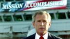 George W. Bush im Mai 2003 auf dem Flugzeugträger «Abraham Lincoln».