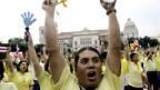 Proteste gegen die thailändische Regierung.