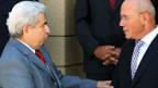 Treffen zwischen Dimitris Christofias (l.) und Mehmet Ali Talat.