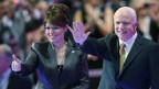 McCain und Palin strahlen am Parteitag der Republikaner.